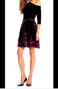 NWT Floral Print Velvet Dress